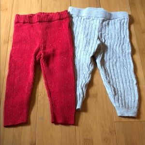 2 pairs of Genuine Kids size 12M knit leggings